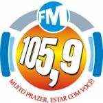 Logo da emissora Rádio Terra dos Coqueiros 105.9 FM