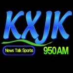 Logo da emissora Radio KXJK 950 AM