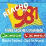 Logo da emissora Rádio Riacho 98.1 FM