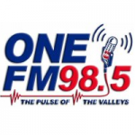 Logo da emissora Radio One 98.5 FM