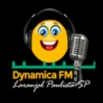Logo da emissora Rádio Dynâmica 104.9 FM