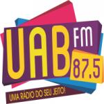 Logo da emissora Rádio Comunitária UAB 87.5 FM