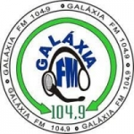 Logo da emissora Rádio Galáxia 104.9 FM