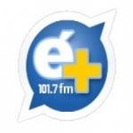 Logo da emissora Rádio  É + 107.7 FM