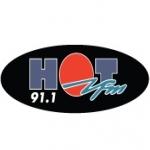 Logo da emissora Hot 91.1 FM