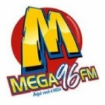 Logo da emissora Rádio Mega 96.1 FM