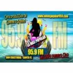 Logo da emissora Radio La Mas Popular 95.9 FM