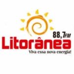 Logo da emissora Rádio Litorânea 88.7 FM