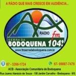 Logo da emissora Rádio Serra da Bodoquena 104.9 FM