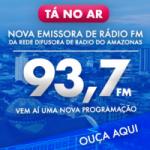 Logo da emissora Rádio Difusora 93.7 FM