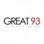 Logo da emissora Great 93 FM