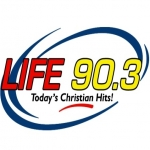 Logo da emissora KLUH 90.3 FM