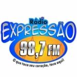 Logo da emissora Rádio Expressão 98.7 FM