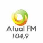 Logo da emissora Rádio Atual 104.9 FM