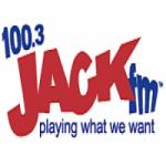 Logo da emissora Radio KBJK 100.3 FM