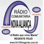 Logo da emissora Rádio Nova Aliança 104.9 FM