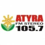 Logo da emissora Radio Atyra 105.7 FM