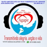 Logo da emissora Web Rádio Missão Ágape