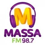 Logo da emissora Rádio Massa 98.7 FM