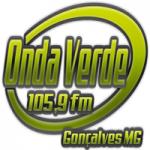Logo da emissora Rádio Onda Verde 105.9 FM