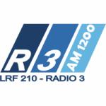 Logo da emissora Radio 3 1200 AM