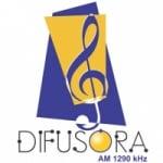 Logo da emissora Rádio Difusora 1290 AM