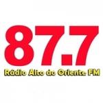 Logo da emissora Rádio Alto do Oriente 87.7 FM