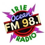 Logo da emissora Radio WOCM Irie Ocean 98.1 FM