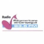 Logo da emissora Radio Panamerica 93.5 FM