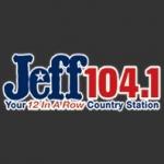 Logo da emissora KZJF 104.1 FM