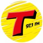 Logo da emissora Rádio Transamérica Pop 97.1 FM