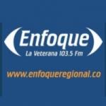 Logo da emissora Radio Enfoque La Veterana 103.5 FM