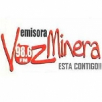 Logo da emissora Radio Voz Minera de Colombia 98.6 FM