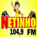 Logo da emissora Rádio Netinho 104.9 FM