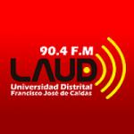 Logo da emissora Radio LAUD Estéreo 90.4 FM