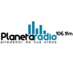 Logo da emissora Planeta Radio 106.1 FM