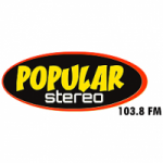 Logo da emissora Radio Popular Stereo 103.8 FM