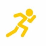 Logo da emissora Rádio Jovem Pan Web Running