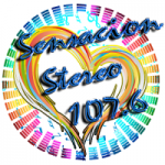 Logo da emissora Radio Sensacion Stereo 107.6 FM