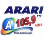 Logo da emissora Rádio Arari 105.9 FM