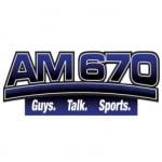 Logo da emissora KMZQ 670 AM