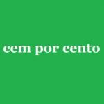 Logo da emissora Rádio Cem Por Cento