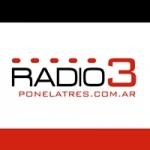 Logo da emissora Radio 3 100.7 FM