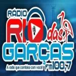 Logo da emissora Rádio Rio das Garças 100.7 FM