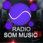 Logo da emissora Rádio Som Music