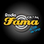 Logo da emissora Radio Fama 106.7 FM