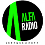 Logo da emissora Radio Alfa 98.5 FM