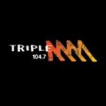 Logo da emissora Radio Triple M 104.7 FM