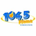 Logo da emissora Radio Flama 104.5 FM