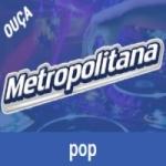 Logo da emissora Rádio Metropolitana SP FM Pop